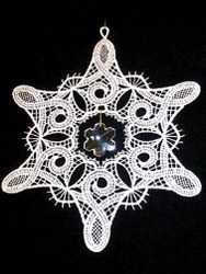 Embroidered Window Star/Crystal