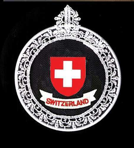 Embroidered Window Picture -  Swiss Shield