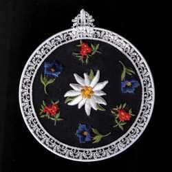 Embroidered Window Pictures - Alpine Flowers