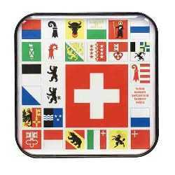 Swiss and Canton Flags Coasters - Magnets