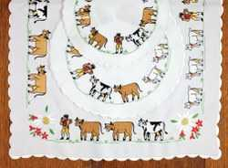 Embroidered Appenzell Design Runner