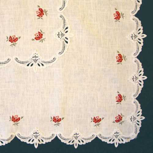 Embroidered Doilies - Roses
