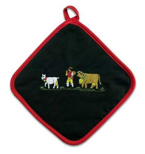 Embroidered Appenzell Motif Pot Holder