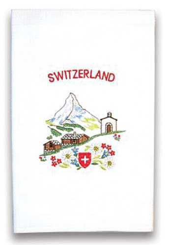 Embroidered Kitchen Towel with Matterhorn