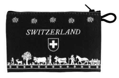 Small Black Purse with Farm Scene