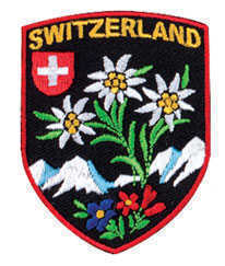 Switzerland w/Edelweiss Iron-on Patch