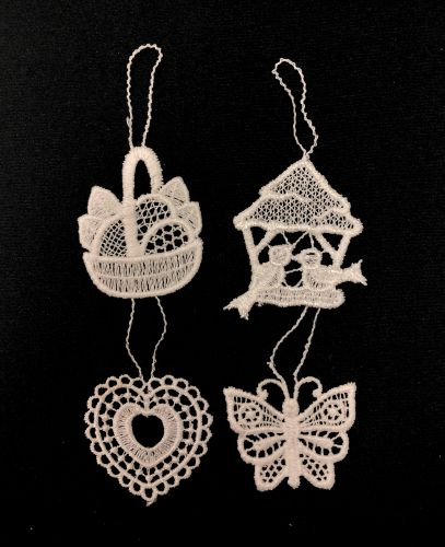 Lace Easter Ornaments - Set of 4
