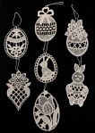 Lace Easter Ornaments - Set of 7