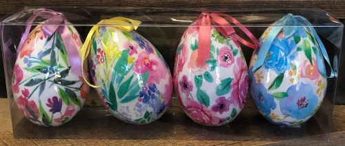 Colorful Easter Eggs - Set of 4