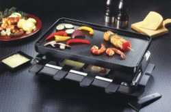 Rectangular Raclette Grill with Reversible Top