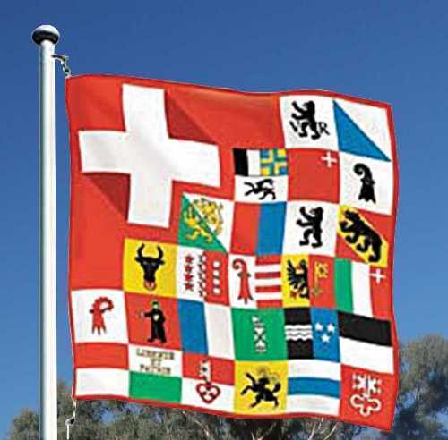Swiss Cantons Flag