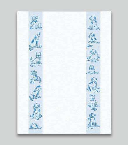 Blue Dogs Kitchen Towel