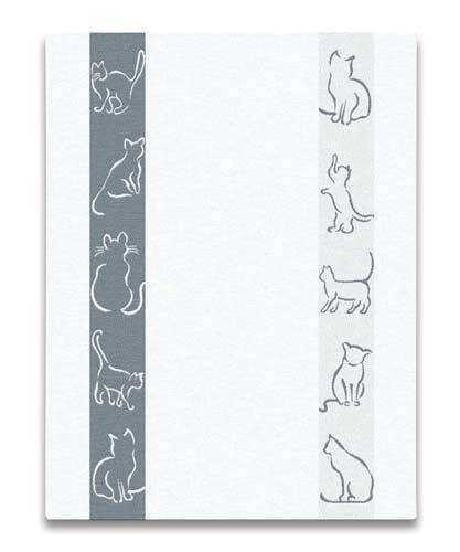 Grey Cats Kitchen Towel