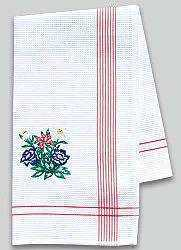 Kitchen Towel with Embroidered Swiss Images
