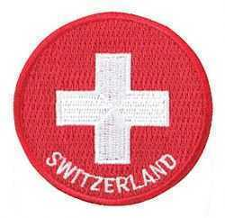 Round Swiss Iron-on Patch