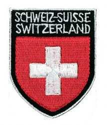 Embroidered Patches-Switzerland w/Cross