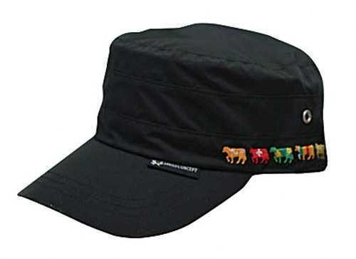 Crewman's Cap - Black with Cows