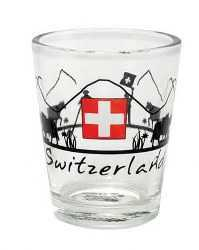Swiss Cross & Alpine Scene Shot Glasses
