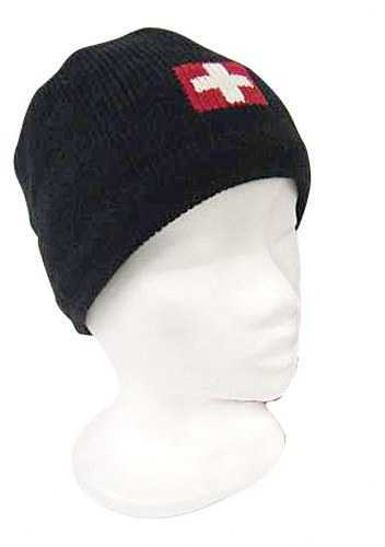 Knit Hat with Swiss Cross
