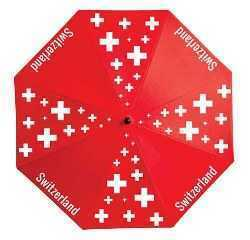 Red nylon umbrella