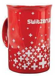 "Red Cup with ""Switzerland"" and multi crosse"