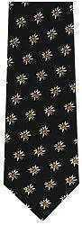 Edelweiss Silk Neck Tie - Black