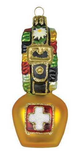 Cow Bell Christmas Ornament