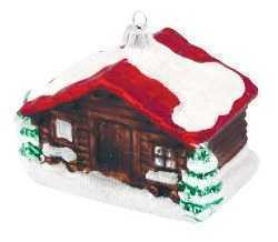 Mountain Chalet Christmas Ornament