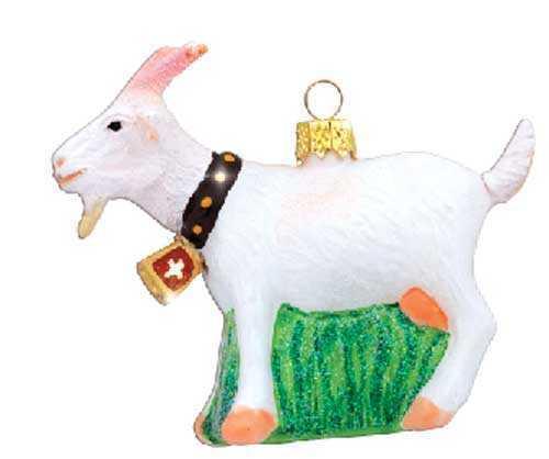Goat Christmas Ornament.Alpine Goat Christmas Ornament