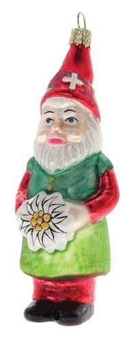 Swiss Gnome Christmas Ornament