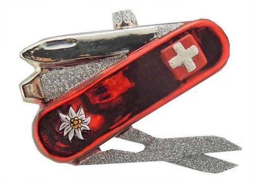 Swiss Knife Glass Ornament