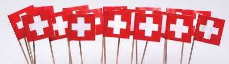 Toothpicks - Swiss Flags