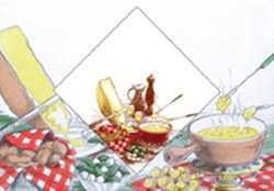Paper Napkins - Cheese Fondue Party Napkins
