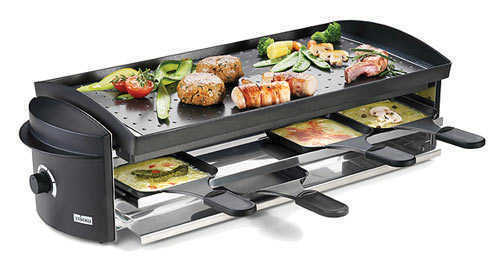 Stockli 8 pan raclette grill new model raclette grills for Tischgrill design