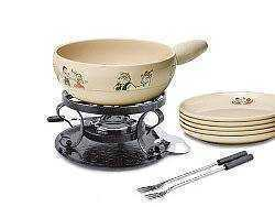 Heidi Fondue Pot and Fondue Plate set