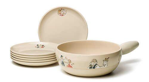 Heidi Fondue Pot And Fondue Plate Set