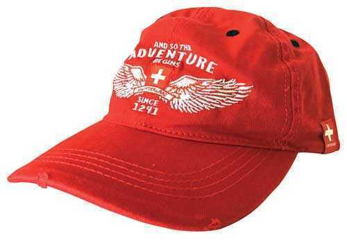 Red Swiss Adventure Cap