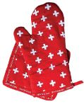 Oven-Mitt Pot Holder Set with Swiss Cross Design