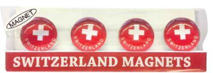 Swiss Images Fridge Magnets -  Round Swiss Flags