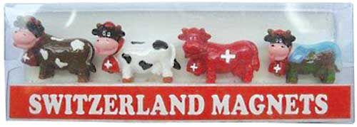 Swiss Images Fridge Magnets - Mini Cows