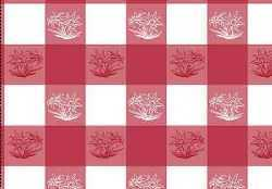 Red Checkered Edelweiss Kitchen Towel