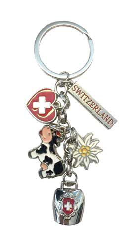 Key Ring with Swiss Charms