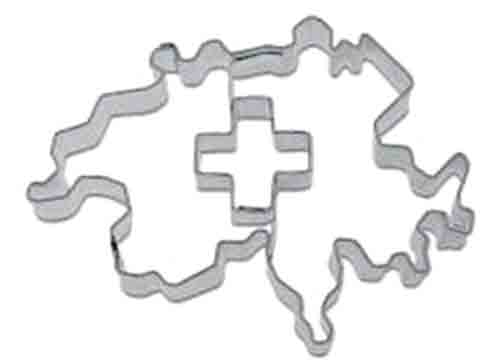 Swiss Map Cookie Cutter