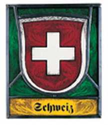 Swiss Canton Glass Shield - Leaded Stained Glass