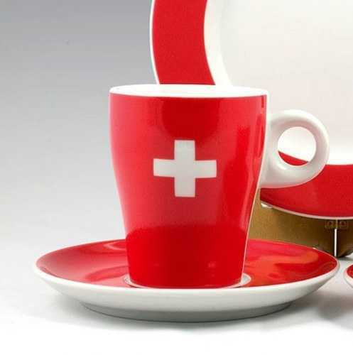 Swiss Cross Pattern - Regular Saucer