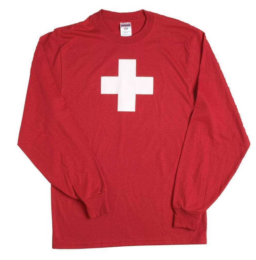 """Swiss National"" Long Sleeved T-Shirts"