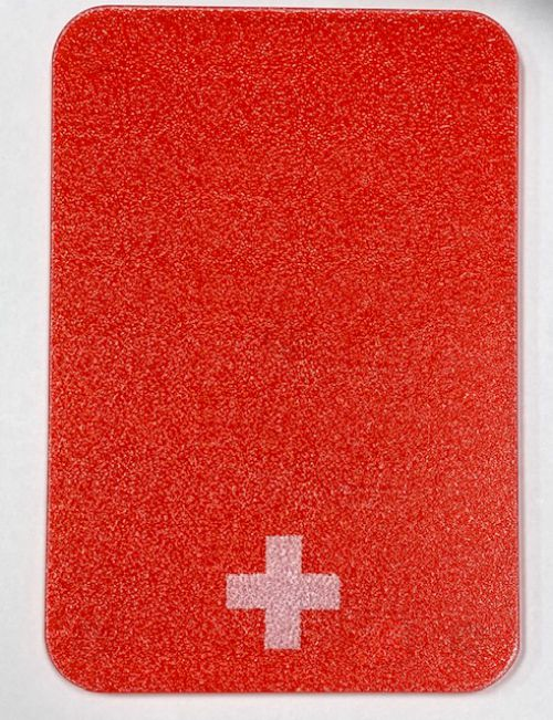 Acrylic Cutting Board with Swiss Cross