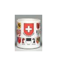 Golden rim Coffee Mug - Swiss Shields