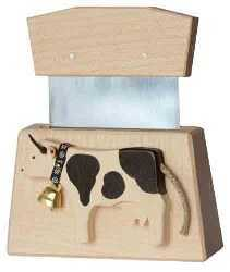 Black Holstein Cheese Knife