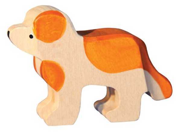 Carved Wooden St. Bernard Dogs, two sizes